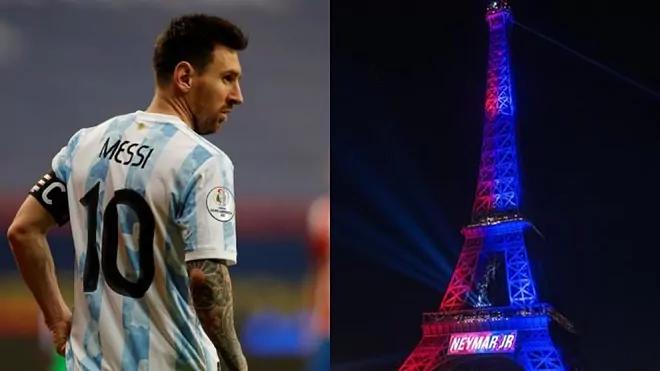 PSG sẽ chào đón Messi như đã làm với Neymar. Ảnh: Marca.