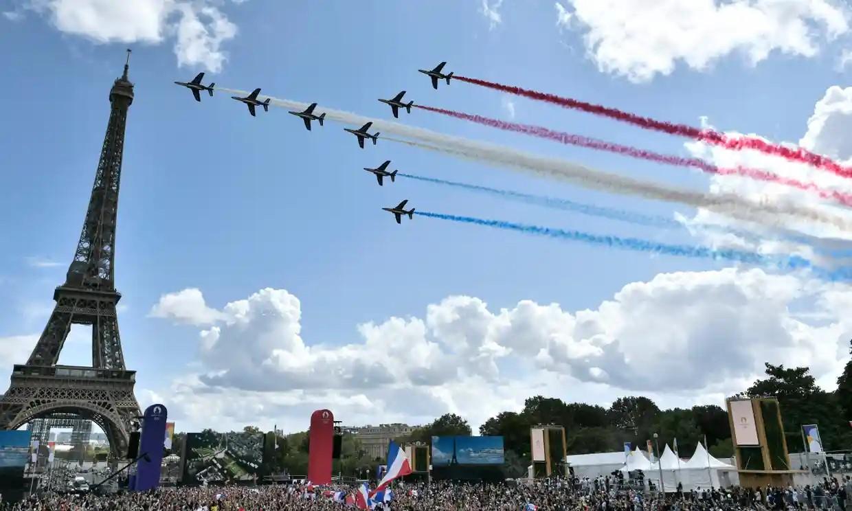Nước Pháp và Paris chào đón Olympic 2024. Ảnh: AFP.