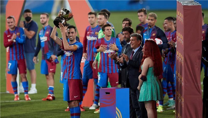 Barca khởi đầu tốt sau kỷ nguyên Messi, với danh hiệu Joan Gamper truyền thống. Ảnh: Marca