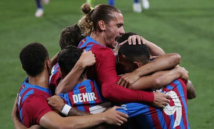 """Barca ชนะการแข่งขันนัดแรกหลังจาก Lionel Messi ประกาศออกเดินทาง  ภาพถ่าย: """"Mundo Deportivo"""""""