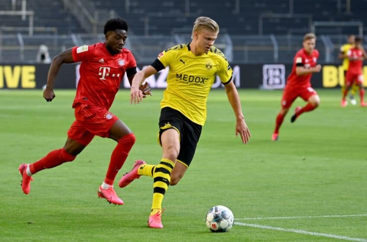Haaland liên tục được các ông lớn ở châu Âu săn đón trong các kỳ chuyển nhượng gần đây. Ảnh: Bundesliga.