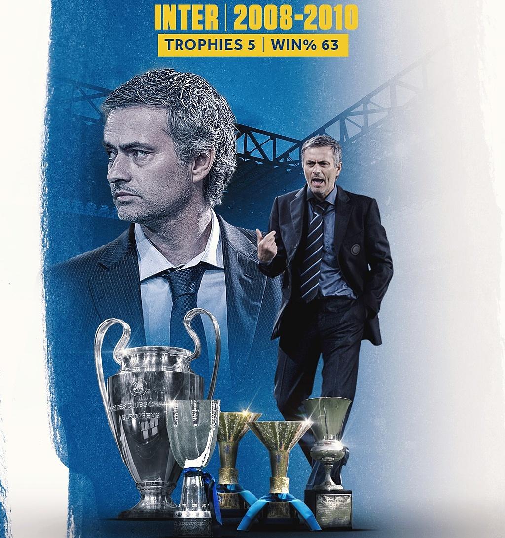Bất chấp những thất bai gần đây, Mourinho vẫn toả ra vầng hào quang, tạo nên những kỳ vọng lớn lao nơi người hâm mộ Rome nhờ quá khứ chiến thắng ấn tượng trong hai năm dẫn dắt Inter. Ảnh: BR
