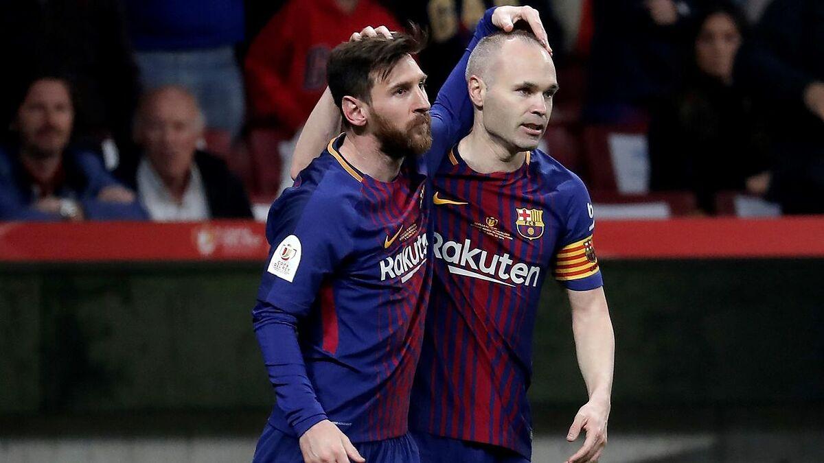 Messi có 14 năm chơi cùng Iniesta trong màu áo Barca. Ảnh: Goal