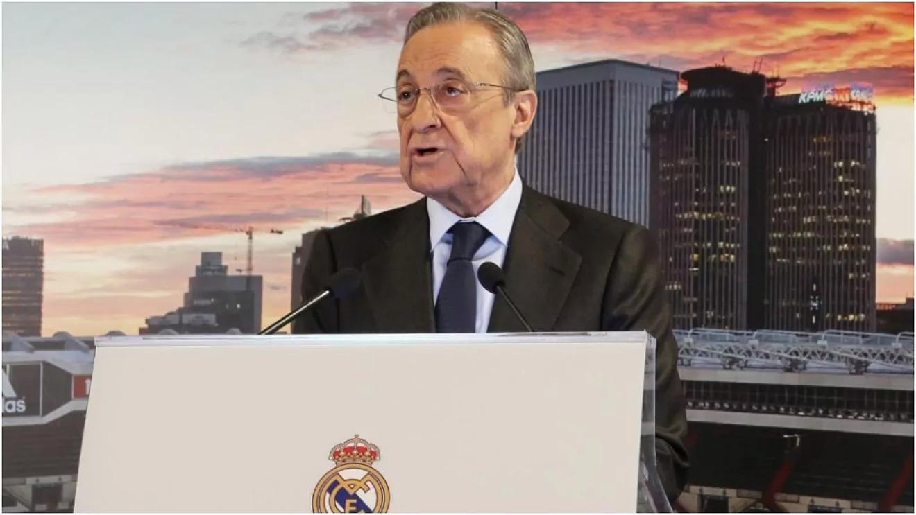 Real của chủ tịch Real Madrid ngay từ đầu đã phản đối hợp tác giữa La Liga với CVC. Ảnh: Marca