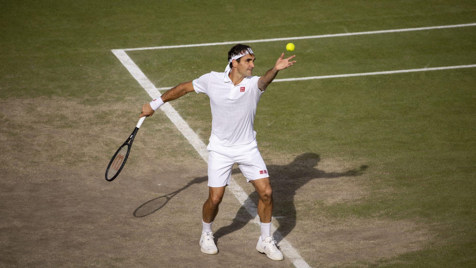 Federer chơi 13 trận trong năm 2021 và thắng 9, không vào bán kết giải nào. Ảnh: ATP