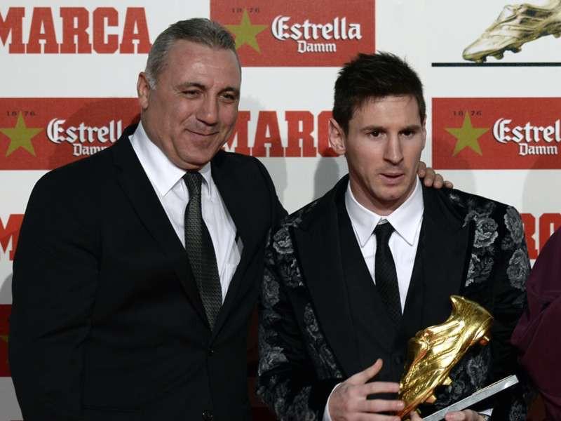 """Stoichkov และ Messi มีความสัมพันธ์ใกล้ชิดที่ Barca  ภาพถ่าย: """"Marca ."""""""