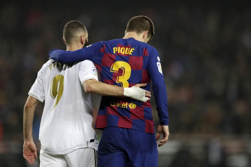 Vắng các ngôi sao mang tính biểu tượng như Messi, Ramos, Real và Barca sẽ phải trông cậy và đội ngũ khiêm tốn còn lại như Benzema, Pique. Ảnh: AP