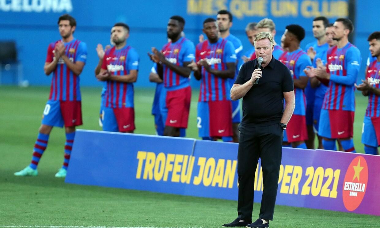 """Koeman พูดก่อนการแข่งขันกับ Juventus ใน Joan Gamper Cup ที่เป็นมิตรเมื่อวันที่ 8 สิงหาคม  ภาพถ่าย: """"Imago"""""""