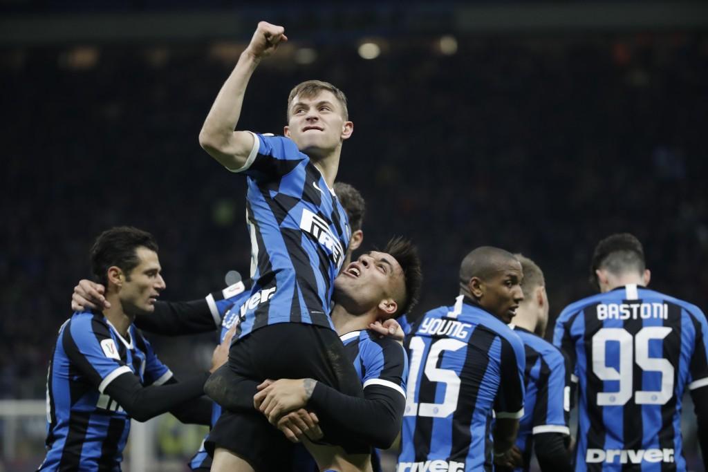 Barella, Lautaro có thể sẽ theo chân những Lukaku, Hakimi để giúp Inter cân bằng tài chính. Ảnh: AP