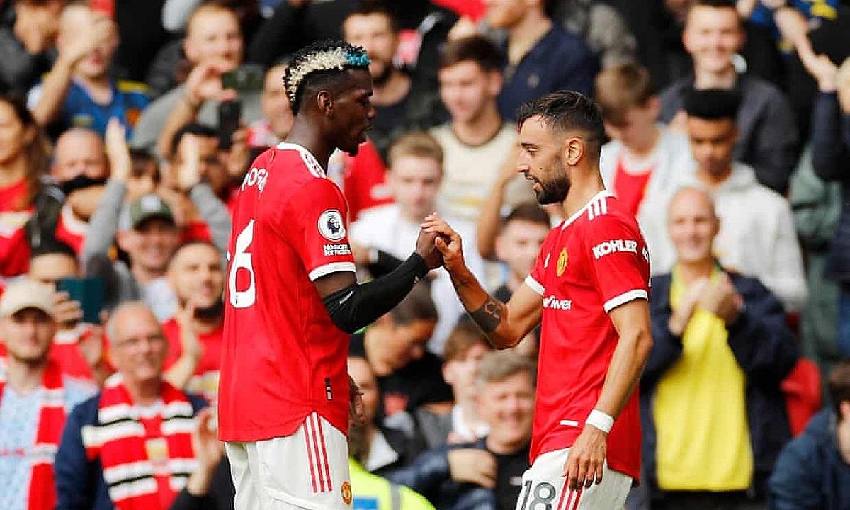 "Pogba และ Fernandes กำลังมีฤดูกาลที่สามร่วมกันที่ Man Utd  ภาพถ่าย: ""Sky"""