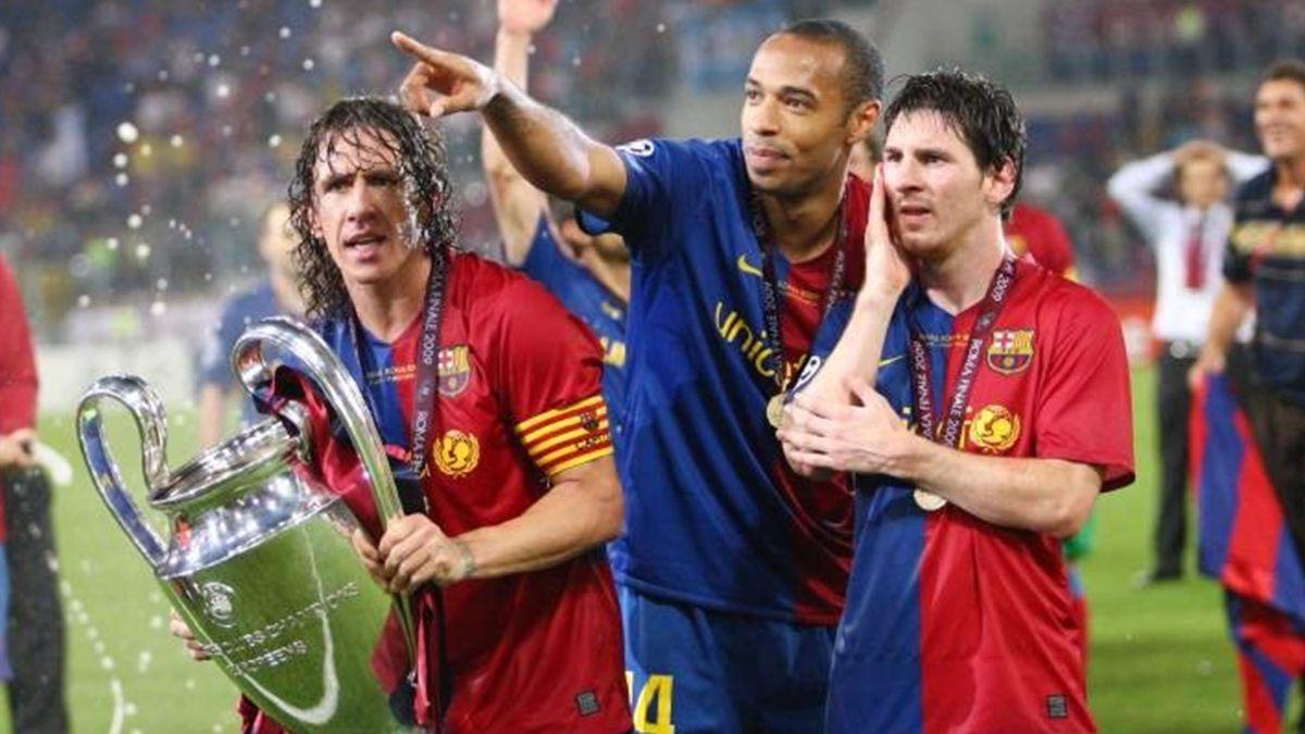 """Barca ในสมัยของ Henry เล่นกับ Messi และการโจมตีที่แข็งแกร่ง แต่ยังได้รับคำสั่งจาก Puyol ด้วย  ภาพถ่าย: """"imago ."""""""