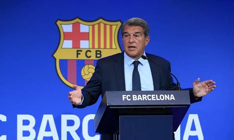 Laporta tuyên bố Barca đang ở trong tình trạng bi kịch về tài chính. Ảnh: AFP.