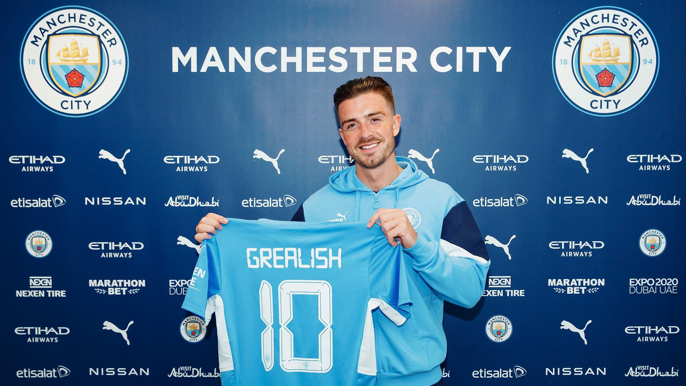 Jack Grealish เข้าร่วม Man City ในข้อตกลง 100 ล้านปอนด์  ภาพถ่าย: Twitter