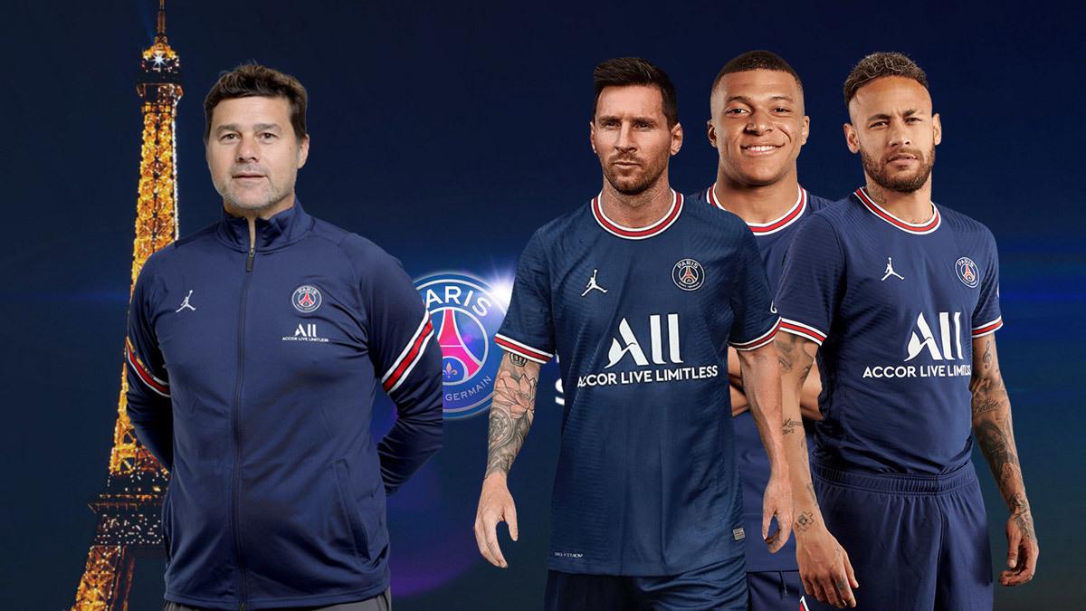 HLV Pochettino sở hữu đội hình đắt giá thứ ba thế giới, nhờ chiêu mộ Messi hè này. Ảnh: Goal.