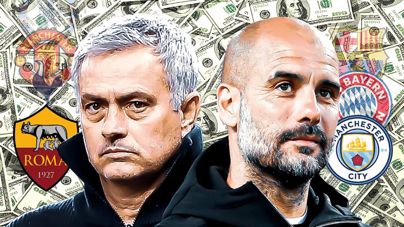 Mourinho đang dẫn đầu nhóm HLV chi nhiều tiền nhất lịch sử bóng đá, nhưng có thể sớm bị Guardiola vượt qua, nếu Man City mua Harry Kane hè này. Ảnh: Marca