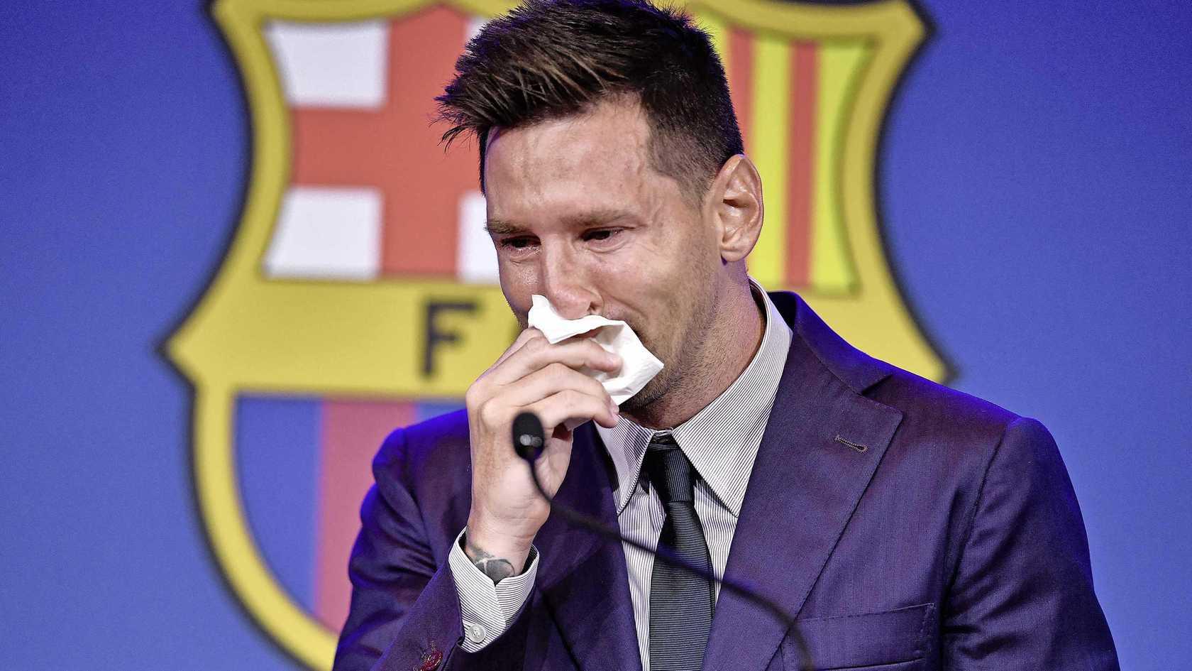 Chiếc khăn giấy Messi sử dụng hôm 8/8 được một người phục vụ giữ lại và đem bán đấu giá. Ảnh: ANP