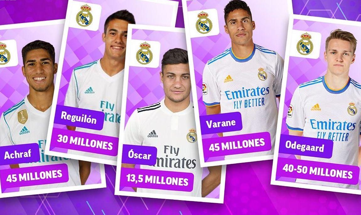 """โดยไม่ได้ซื้อเพิ่ม แต่ขายเฉพาะผู้เล่นที่ไม่สำคัญเกินไป Real ได้รับเงินจำนวนมาก  ภาพถ่าย: """"Marca ."""""""