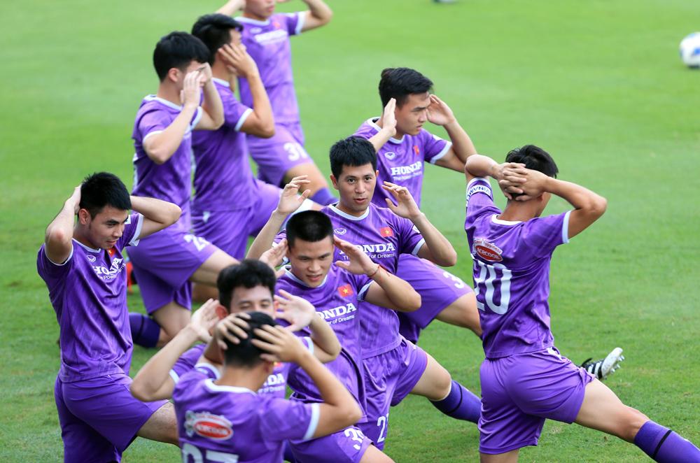 Số đông tuyển thủ được triệu tập cho hai trận vòng loại đầu tháng Chín đều đã ăn tập nhiều năm cạnh nhau ở các cấp độ đội tuyển Việt Nam. Ảnh: VFF