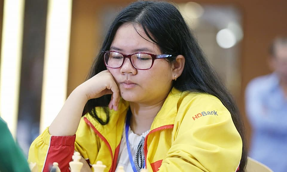 Thuỳ Dương tại giải cờ vua vô địch Đông Nam Á năm 2019 ở Bắc Giang. Ảnh: Xuân Bình