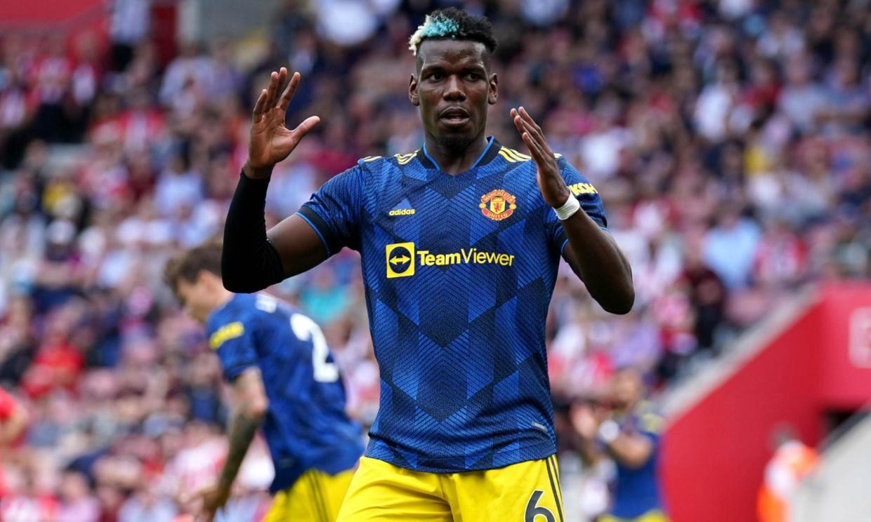 Pogba không hài lòng dù Man Utd lập kỷ lục chuỗi bất bại sân khách. Ảnh: AP.
