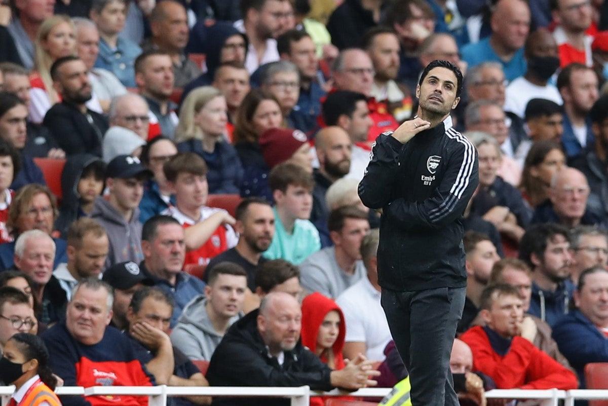 ความพ่ายแพ้สองครั้งกับอาร์เซนอลในสองรอบแรกของฤดูกาลนี้ทำให้อาร์เตต้าพ่ายแพ้ถึง 20 ครั้งหลังจาก 60 นัดแรกของเขาในฐานะผู้จัดการทีมพรีเมียร์ลีก  ภาพ: Arsenal.com