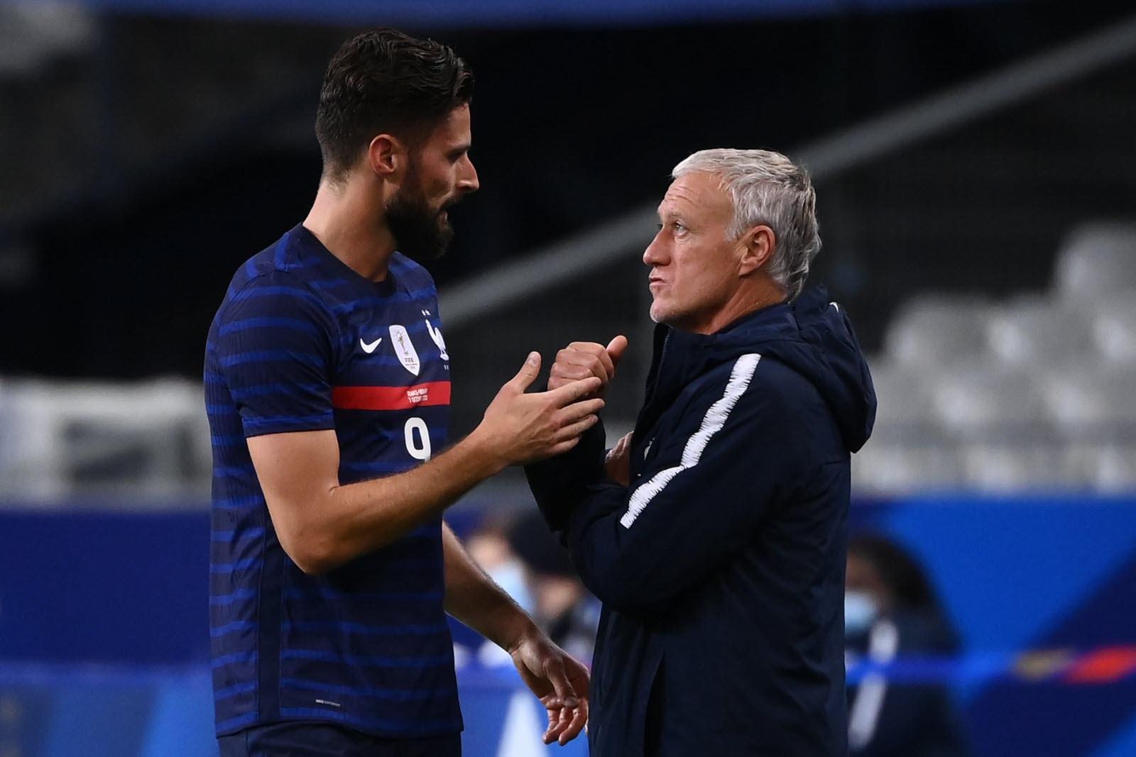 Giroud bị Deschamps gạch tên trong lần triệu tập này. Ảnh: AFP