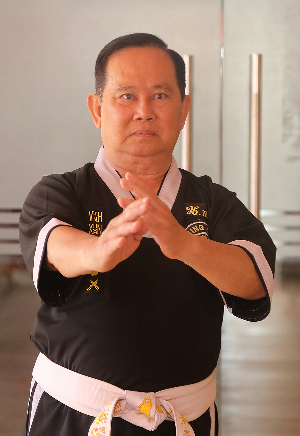 The late martial artist Huynh Ngoc An not only teaches martial arts, but always aims to live a righteous life, knowing how to think for others.  Photo: Anh Thu