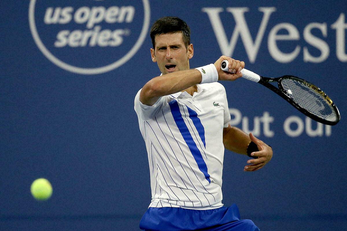 Djokovic trước cơ hội trở thành tay vợt nam đầu tiên đoạt bốn Grand Slam cùng năm, kể từ 1969. Ảnh: US Open