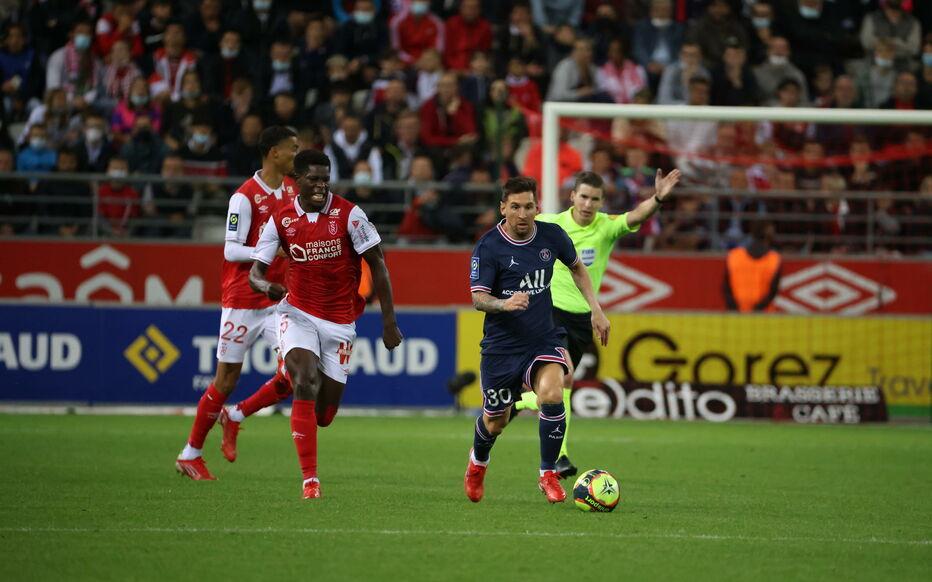 Messi chơi tốt trong gần 30 phút đầu khoác áo PSG. Ảnh: LP.