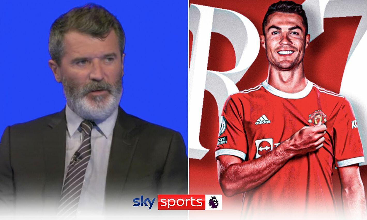 """รอย คีน เชื่อว่า แมนฯ ยูไนเต็ด ยังคงต้องปรับปรุงแดนกลาง แม้ว่าโรนัลโด้  ภาพถ่าย: """"Sky Sports"""""""