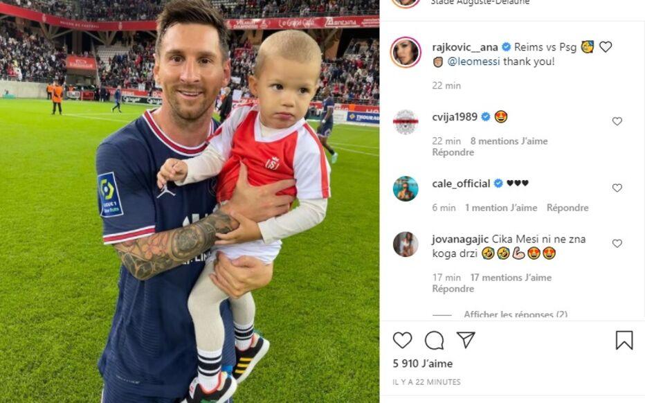 ภาพถ่ายของ Messi อุ้มทารกของ Rajkovic กลายเป็นไวรัลบนอินเทอร์เน็ต  ภาพถ่าย: อินสตาแกรม