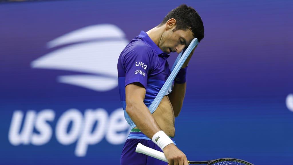 Djokovic khởi đầu không như ý ở Mỹ Mở rộng 2021. Ảnh: US Open