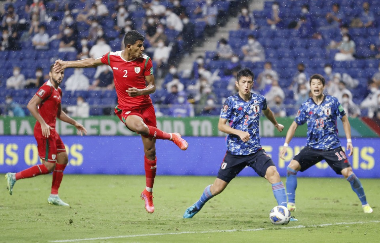 Al Sabhi ghi bàn ở phút 88. Ảnh: Kyodo