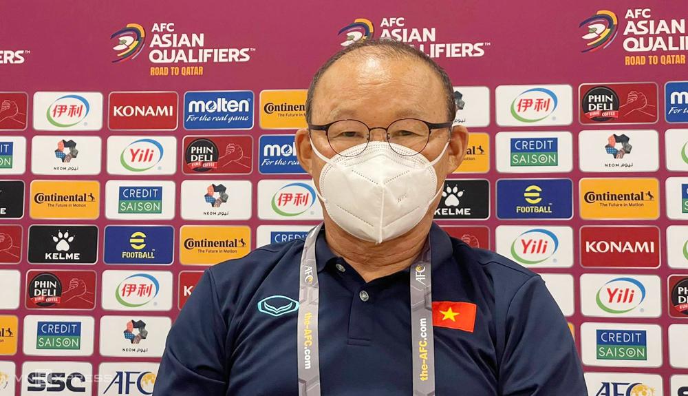 Coach Park Hang-seo ตอบงานแถลงข่าวก่อนการแข่งขันที่ซาอุดีอาระเบียในวันที่ 1 กันยายน
