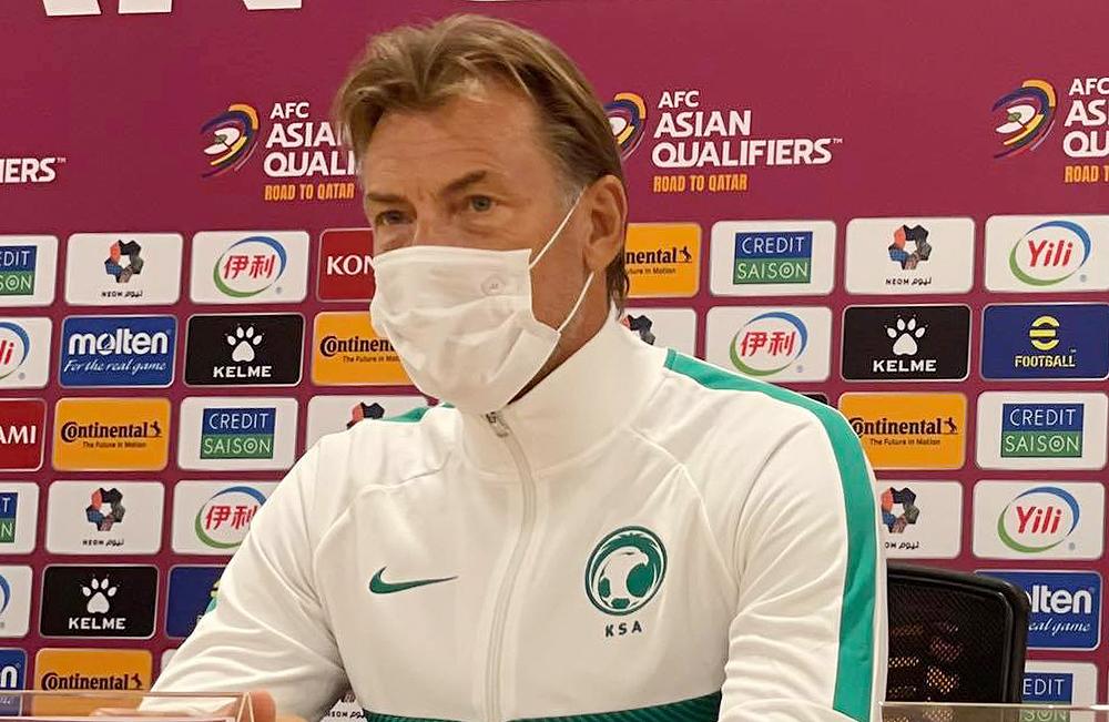 โค้ช Herve Renard ตอบการแถลงข่าวก่อนการแข่งขันในซาอุดิอาระเบีย 1 กันยายน