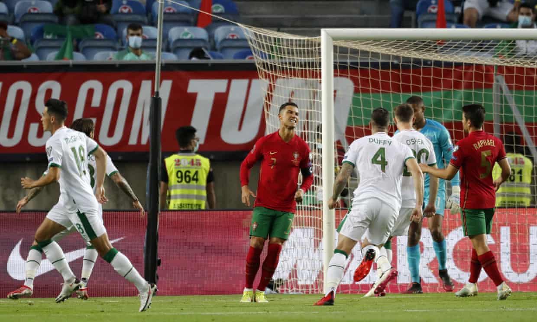 Ronaldo đã ghi ba bàn phạt đền ở Euro 2021, nhưng bỏ lỡ trước Ireland ở vòng loại World Cup 2022. Ảnh: AP