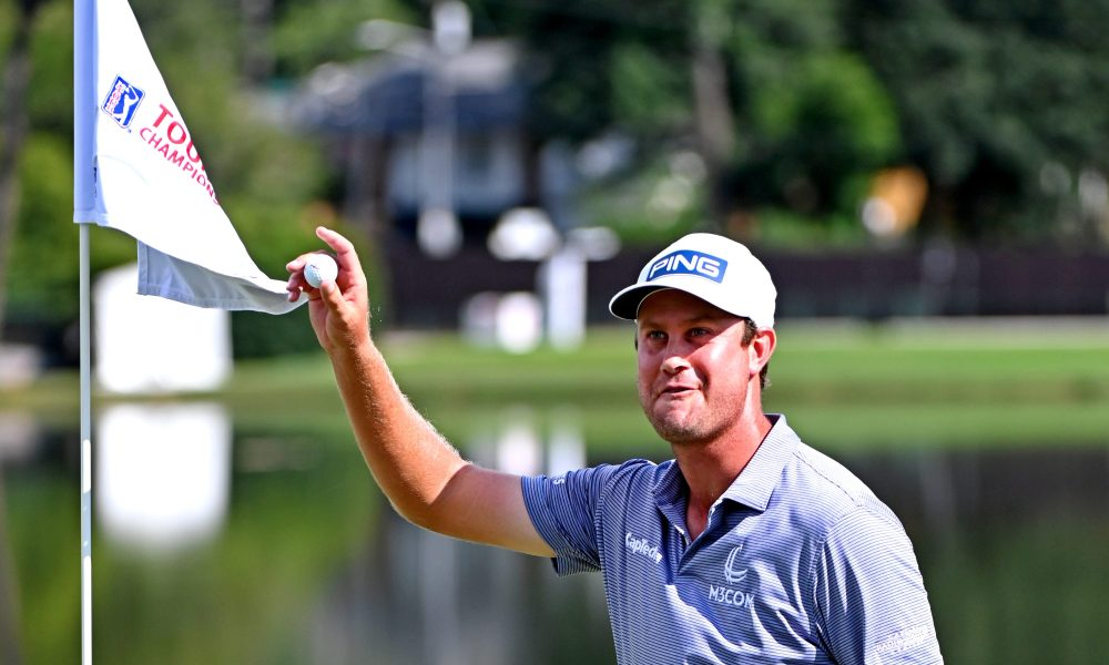 English is the first golfer to score an ace on the 15th hole at East Lake since the course hosted the Tour Championship.  Photo: USA Today
