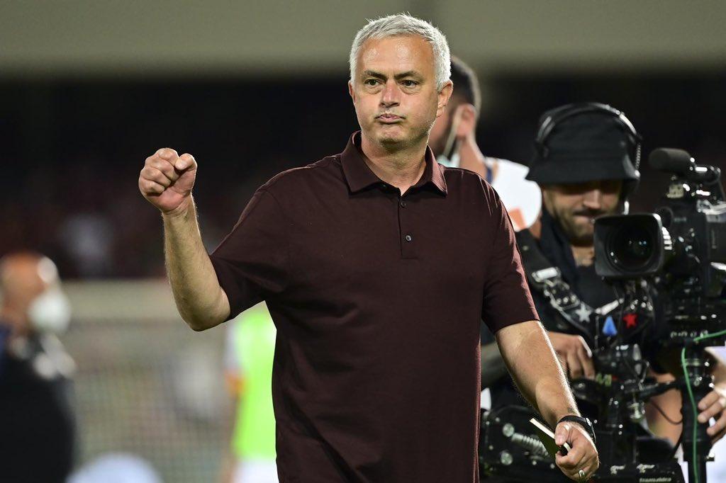 Mourinho đang mang lại sự hứng khởi và tự tin hiếm thấy ở Roma. Ảnh: Twitter / Roma