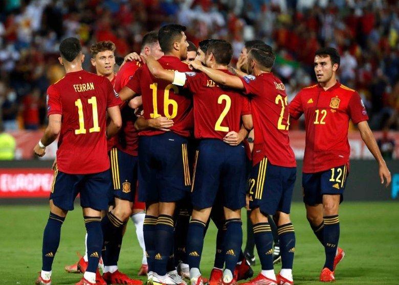 Tây Ban Nha thắng ba, hòa một sau năm lượt trận vòng loại World Cup 2022. Ảnh: Twitter