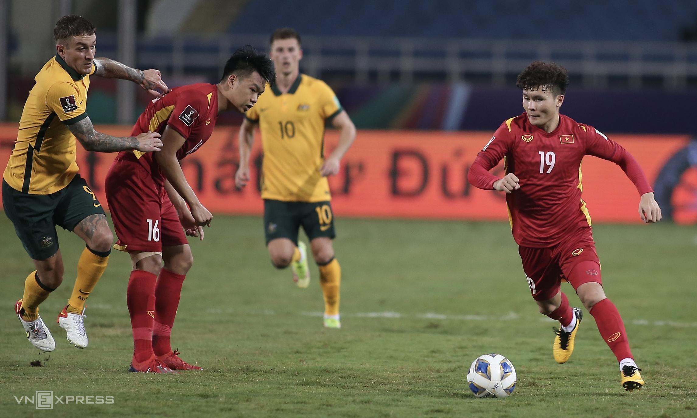 Quang Hải vẫn chơi nổi bật bên phía Việt Nam nhưng không thể giúp đội nhà ghi bàn. Ảnh: Lâm Thoả