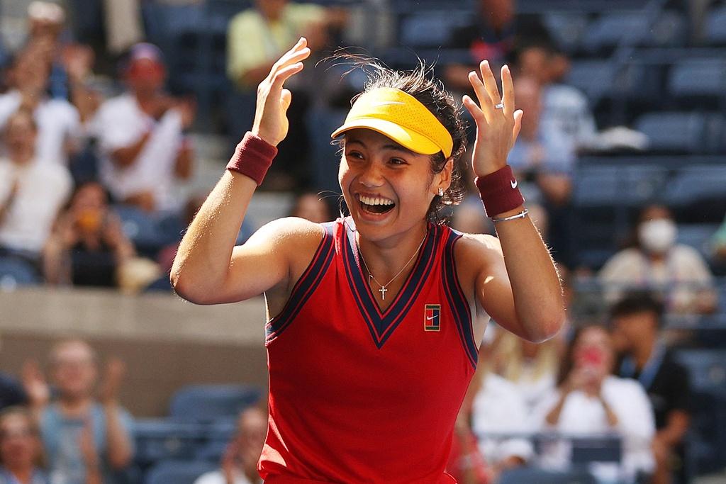 Raducanu chưa thua set nào sau tám trận ở Mỹ Mở rộng, gồm ba trận vòng loại. Ảnh: US Open