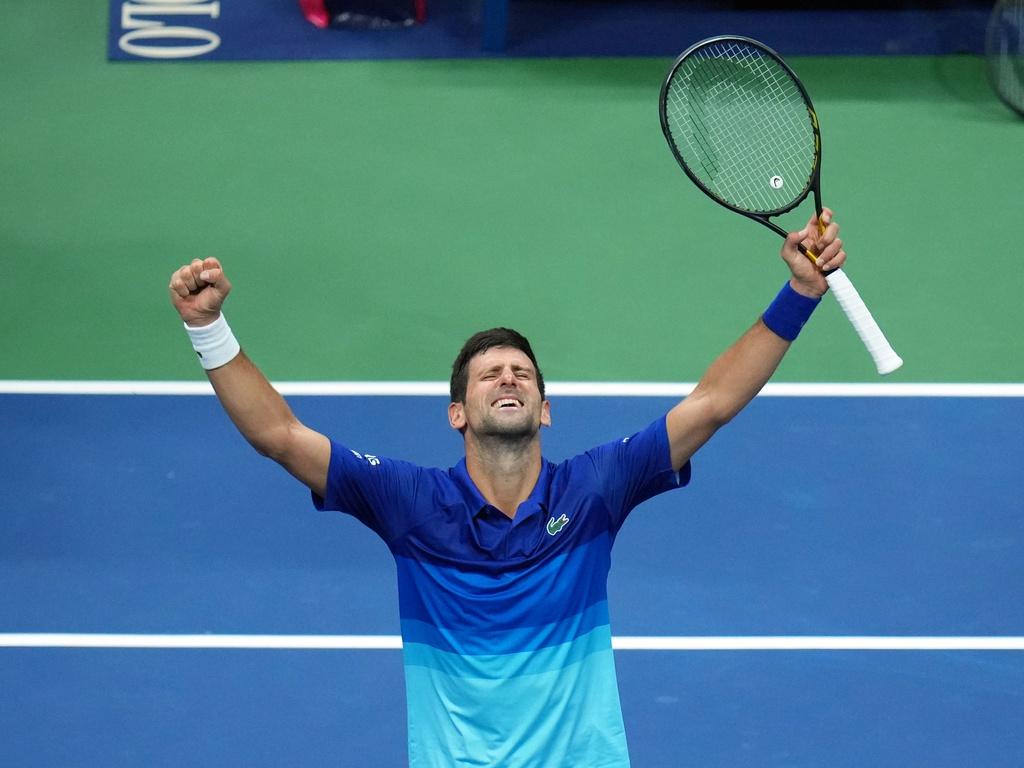 Djokovic còn cách kỷ lục 21 Grand Slam hai trận thắng. Ảnh: US Open