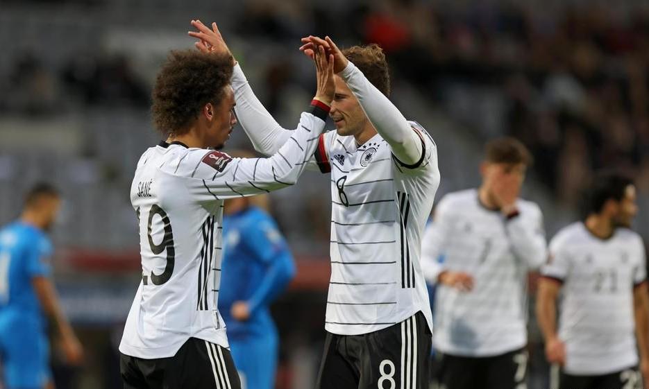 Đức đã ghi 12 bàn và không lọt lưới lần nào trong ba trận ở đợt tập trung lần này. Ảnh: AP.