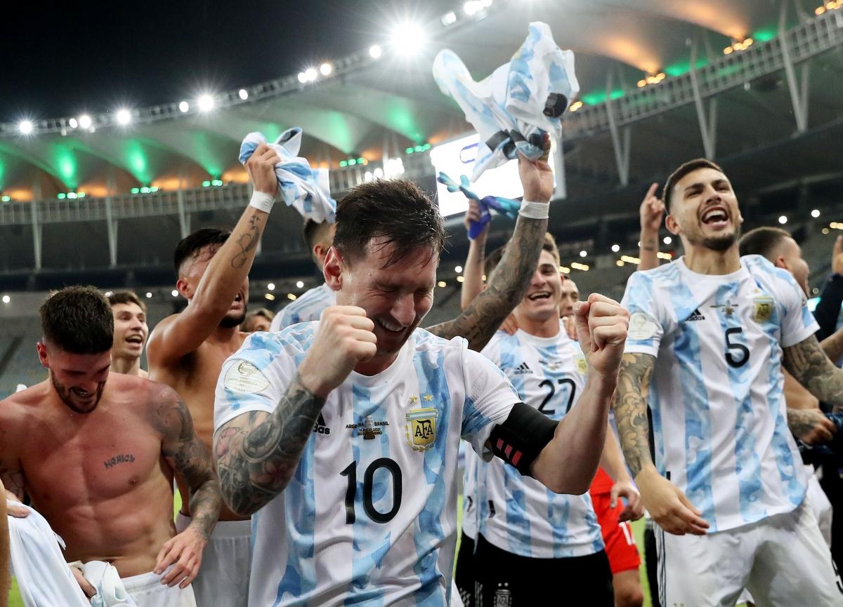 Messi và đồng đội đăng quang Copa America 2021. Ảnh: Reuters.