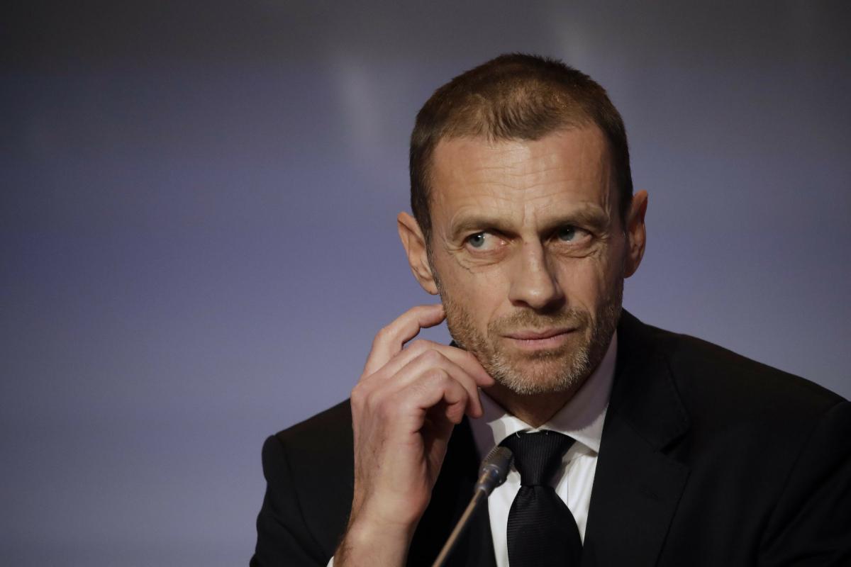 """ประธานยูฟ่าขู่ถอนทีมยุโรปทั้งหมดออกจากฟุตบอลโลก  ภาพถ่าย: """"AP."""