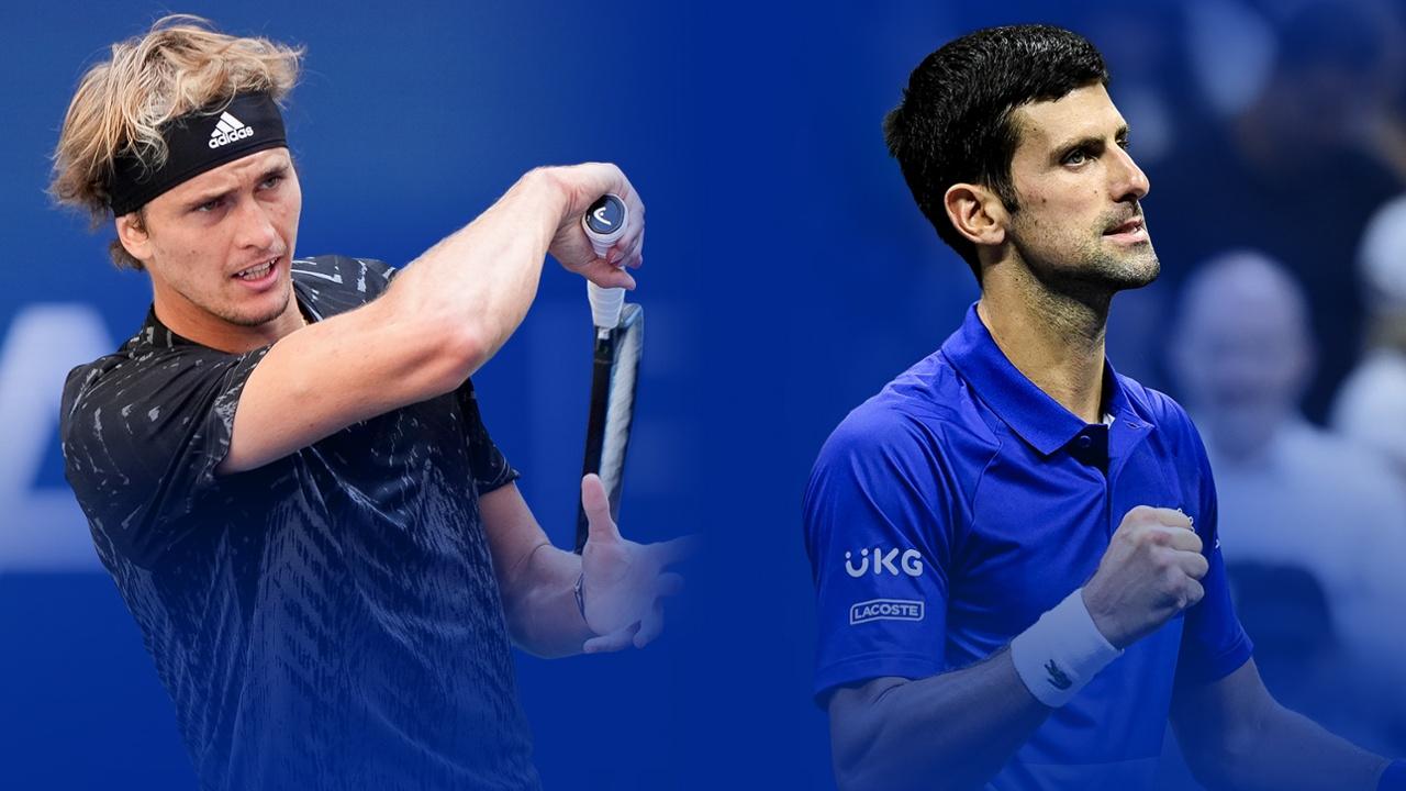 Djokovic (kanan) kalah dari Zverev dalam konfrontasi terakhir, di semifinal Olimpiade Tokyo. Foto: USO