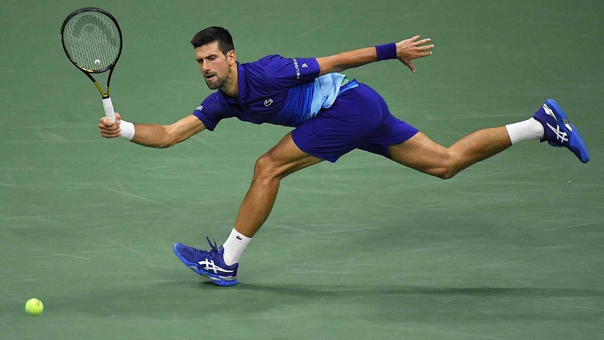 Ở tuổi 34, Djokovic vẫn chơi ấn tượng ở các trận đấu năm set của Grand Slam. Ảnh: US Open