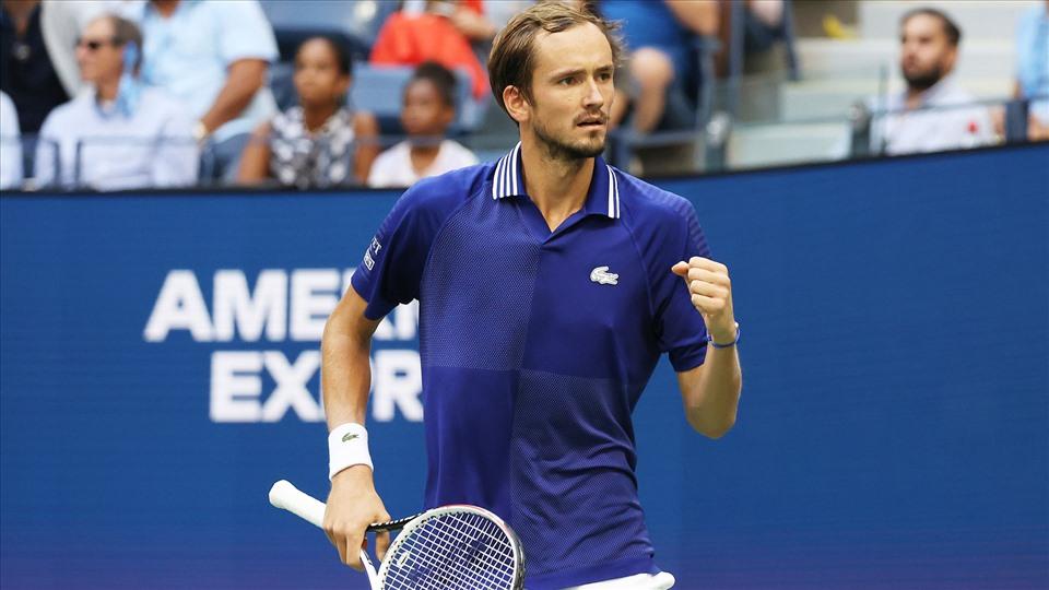 Medvedev là tay vợt có kết quả ấn tượng nhất tới lúc này của Mỹ Mở rộng 2021. Ảnh: US Open