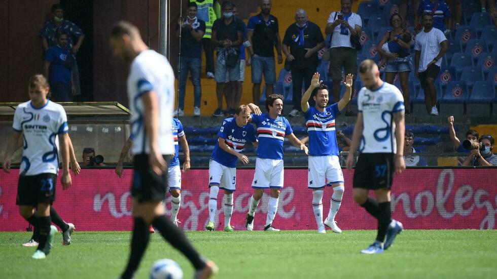 Tommaso Augello mang về một điểm cho Sampdoria với bàn gỡ ở đầu hiệp hai. Ảnh: AFP.