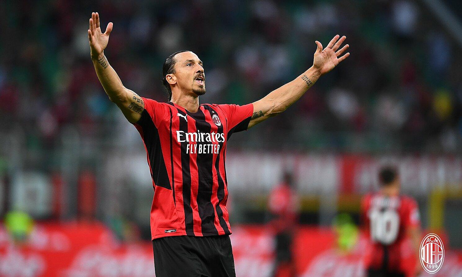 Ibrahimovic ghi bàn ngay trận đầu trở lại kể từ tháng 5/2021. Ảnh: ACM